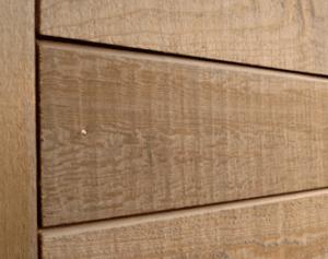Open gevelbekleding in hout voorbeeld